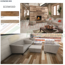MELANGE, ECOWOOD MIX, ECOWOOD MIX COLLECTION, 2662-3, 6X36, PORCELAIN TILE