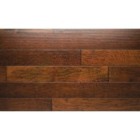 URBAN HICKORY CHESTNUT, CHISELED EDGE COLLECTION, CEC-923-HC, URBAN LIFESTYLE, 5 INCH WIDE HEAVILY SCRAPED HICKORY, HARDWOOD FLOORING