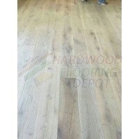 OASIS SECRET GARDEN, OLD CARMEL COLLECTION, OC12, 8 3/4 INCH WIRE BRUSHED RUSTIC WHITE OAK, HARDWOOD FLOORING