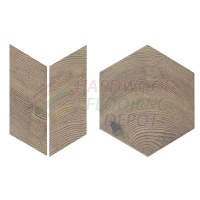 MELANGE, OLD LEFT, HEXAWOOD | CHEVRON, 2634-4, 3.5X8, PORCELAIN TILE FLOOR | WALL