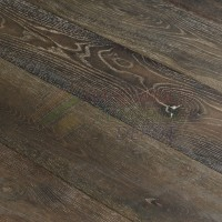 OASIS WARM LAND, OLD CARMEL COLLECTION, OC16, 8 3/4 INCH WIRE BRUSHED RUSTIC WHITE OAK, HARDWOOD FLOORING